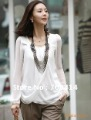 High qulity korean style women fashion chiffon long Sleeve summer tee t-shirt Free Shipping