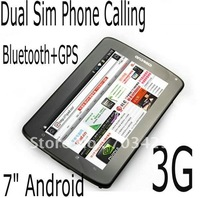 7&quot; Android 2.3 MTK6573 dual core Dual camera multi touch wifi bluetooth mtk tablet, Free Shipping!
