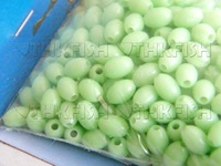 Free Air Post! 500pcs Per Lot #3 Fishing Glow Bead Green Wholesale Fishing Tackle