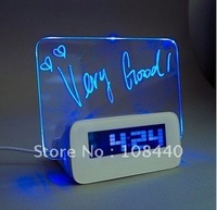 Check with us before buy  100pcs/Lot  4 Port USB Hub Memo Board Azan Clock LED Alarm Clock with Memo Board and Color LED Display