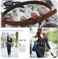 Women slim belt fashion personality retro copper decor simple belt