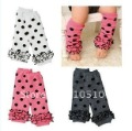 Free Shipping Cotton Baby Boy Girl New Born Infant Kids Leg Warmers Pants Leggings Tights Socks 40PCS/lot(China (Mainland))