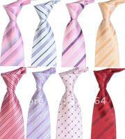 Free shipping Wholesale Mens Silk Necktie Stripe Ties Plain jacquard ties Newest Ties