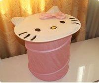 Free Shipping KITTY Stackable storage baskets laundry basket debris tube toy incorporating barrel Laundry Lou laundry basket