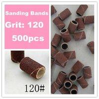 Free Shipping - 500 pieces 120 Degree Nail Art Drill Sanding Bands /Nail Drill Polishing Wheel