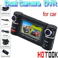 Wholesale Mini 2.7'' LCD Car DVR Dual Camera H.264 video lens F20 HDMI With retail package x 10pcs  -- ship via express