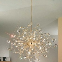NEW  High Quality Artistic Crystal pendant Light with 20 Lights in Golden