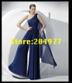 Free Shipping Fashion Evening Dress With One Shoulder Pants Trousers ET-81