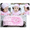 10pcs/lot wholesale Baby Big Flower Lace Hairband Girls  Flower Headbands Headwear For Kids Hair Ornament