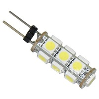 20pcs/lot G4 13 5050 SMD LED Car Boat Marine Lamp Bulb Light Pure White 12V Hot New free shipping