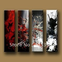 Newest Modern Oil Painting on Canvas ,Wall Art ,100% Hand Painted Oil Painting  4pcs one set JYJLV147