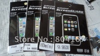 100pcs/lot,Front&Back Anti-fingerprint/Anti-glare screen protector film for iphone 4 4S With retail package