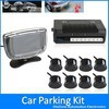 Weatherproof 8 Rear and Front View Car Parking Sensors with Display Monitor