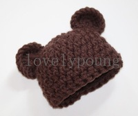 baby bear hat baby boy crochet hat infant hat knitted hat 20pcs/lot