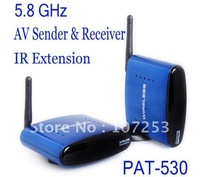 5.8G AV Sender&IR Remote Extender Wireless1Transmitter +1 Receiver PAT530,free post