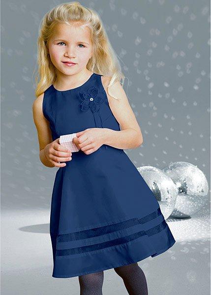 Cute Baby Girl in Blue Dress Cute Baby Girl's Dress For