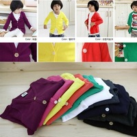 Free shipping 10pcs/lot jelly colors Spring clothes,Long sleeve shirt,Children's coat ,baby wear