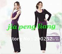 New Arrival Women's Yoga Clothing Shirts Vest  Pants 3pcs/ set  S,M,L,XL ,XXL 2 Colors Free Shipping