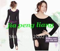 Wholesale New Arrival Women's Yoga Clothing Shirts Vest  Pants 3pcs/ set  Yoga Wear  S,M,L,XL ,XXL 2 Colors Free Shipping