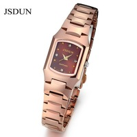 JSDUN Brand Watch Tungsten Watches Rose Gold 2012 new design sapphire glass dial for lady women 3 ATM Water Resistant 137