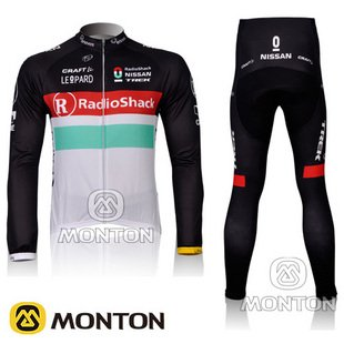 2012 radio shack team Long Sleeve Cycling Jersey bicycle shirts / Bike Wear + Pants Sets /Suite Size :S,~XXXL(China (Mainland))