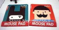 2012 new fashion creative digital computor mini mouse pad heavy beard south korea rubbit shape wholesale freeshipping 15pcs/lot