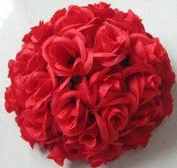 30cm red plastic inner wedding flower ball