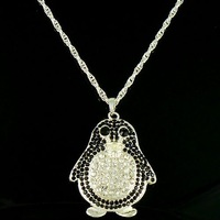 Promotions! Free Shipping Retro fashion Cute Penguin necklace 5PSC