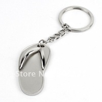 2012 new slipper keychain, metal keyring, free shipping by China Post Air, Wholesale acceptable, customized keyring