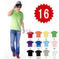 AB Cotton Men's Short Sleeve Sport T Shirts Blank 14 Colors 10pcs/lot Blank Low Price Fast Delivery Summer Wear Good Quality