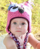 Wholesales,Sunshine baby's store,20pcs/lot mix color 100% handmade animal hat,crochet hats,knitted hat,beanies, freeshipping