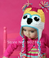 20pcs/lot mix color 100% handmade animal hat,crochet hats,knitted hat,beanies, freeshipping,babu hats