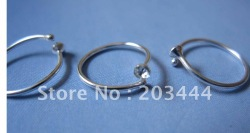 925 sterling sliver Nose Studs, Nose Rings, Nose Jewelry,1.8mm cupset clear color 20pcs(China (Mainland))