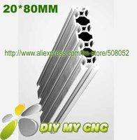 Length:1500mm Aluminum Profile D-6-2080 Aluminum Extrusion for CNC ROUTER BED PLATE