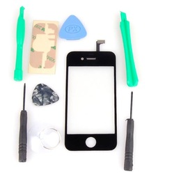 wholesale & free shipping LCD Digitizer Glass Touch Screen Replacement for iPhone4 4G with 8 in1 Repair Tool Kits(China (Mainland))