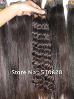 "Free shipping retail virgin brazilian hair weft,deep wave,16"",18'' hair extention"