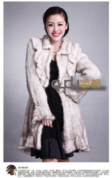 2013 Newest lady fashion Genuine Knitted Mink Fur Coat Women Floral Style Outwear WholeSale QD20092(China (Mainland))