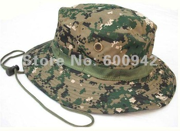 MILITARY DIGITAL CAMOUFLAGE BUSH BOONIE HAT - HOT WEATHER FISHING CAP