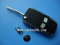 Mitsubishi flip key blank,2 buttons modified remote key case& key shell& key cover