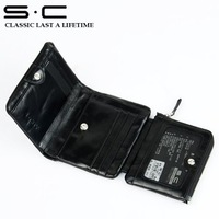 S.C Free Shipping  + 100% cow leather -  Men's Leather Purse/money bag/leather wallet  QY0051-2-H