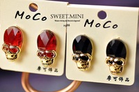Free shipping,fashion Earrings.Hot skull ear pendants.crystal.20pairs/lot.great