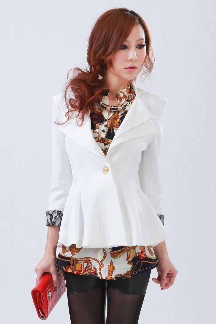 White Dress Jackets Ladies