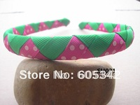 2012 NEW!! 1/2 inch Watermelon  Wave U Pickup Style/Color Woven Ribbon Headbands Girls Baby Infant  + EMS  Free Shipping