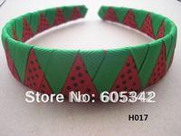 lovely 2012 new 1 inch 40  Pcs/Lot black /green/ren woven  Headbands  Girls Kids Party Ribbon Headband + Free Shipping