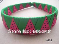 2012 new !1 inch 40  Pcs/Lot Watermelon woven  Headbands  Girls Kids Party Ribbon Headband + EMS Free Shipping