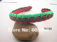 2012 new !1/2  inch 100  Pcs/Lot Watermelon Braid  woven  Headbands  Girls Kids Party Ribbon Headband + EMS Free Shipping