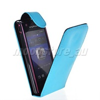 FLIP LEATHER CASE SLIM COVER  FOR SONY ERICSSON XPERIA RAY ST18i  FREE SHIPPING