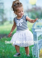 2012 skirts girls dresses vest skirts summer clothing fashion lace skirts striped wear vest butterfly 5pcs/lot free shipping