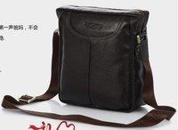 [ FREE SHIPPING ]+100% Genuine leather man's shoulder bag/ man' messenger bag,Black&Brown
