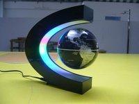 electronic led light ,wireless power magnetic levitation floating world map 3 inch antigravity globe magic gift-free shipping